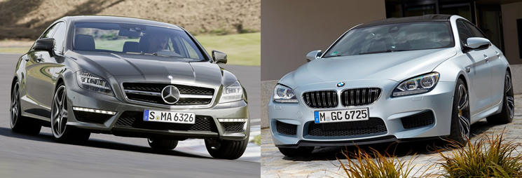 Mercedes-Benz CLS 63 AMG vs BMW M6 Gran Coupe