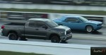 Supercharged Challenger Blue vs Toyota Tundra TRD Supercharged