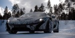 McLaren P1 hits up a frozen lake for cold-weather testing